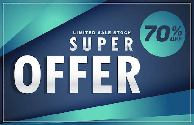 modern offer and sale discount poster voucher template banner design Premium Vector