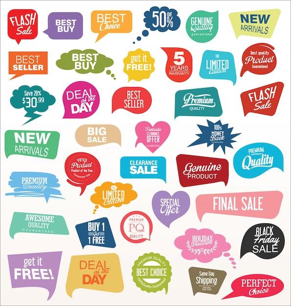 Modern offer sale tag Premium Vector