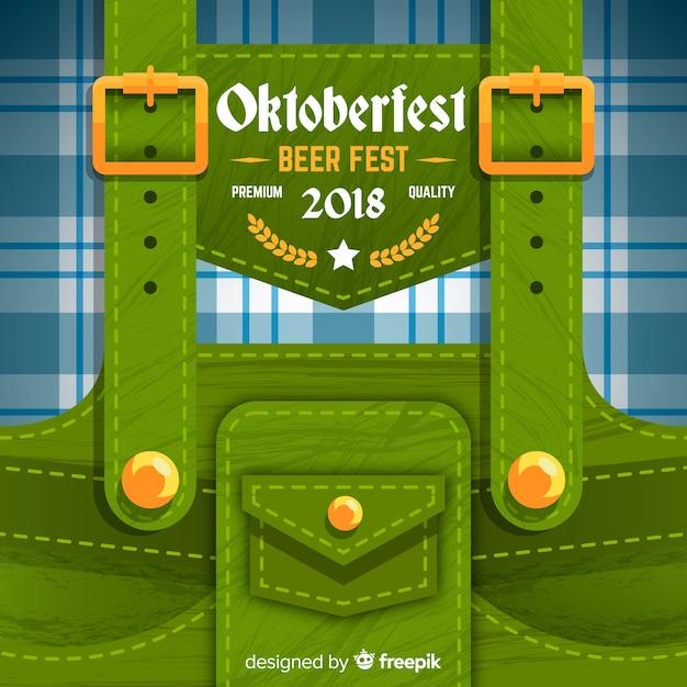 Modern oktoberfest background Free Vector