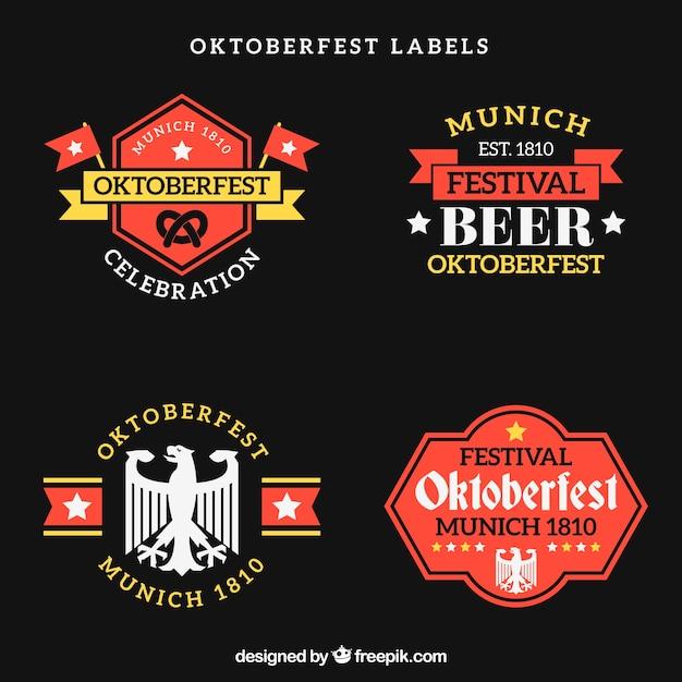 Modern oktoberfest label collection