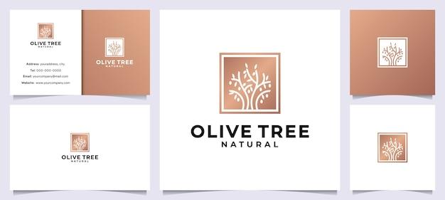 現代のオリーブの木 Premiumベクター