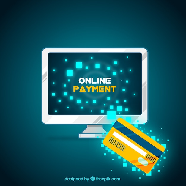 Modern online payment with computer