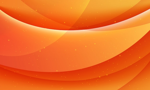 Modern orange abstract background with waves or wavy pattern.