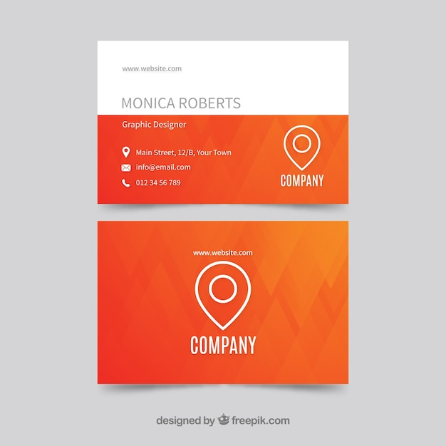 Modern orange and white business card template vector free download modern orange and white business card template free vector reheart Choice Image