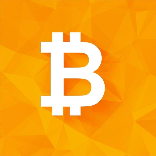 modern orange bitcoin background vector