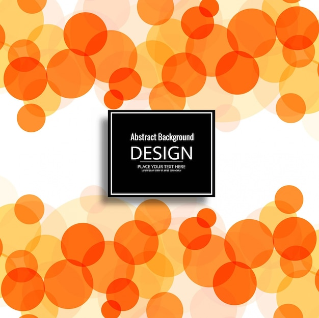 Modern orange circle background