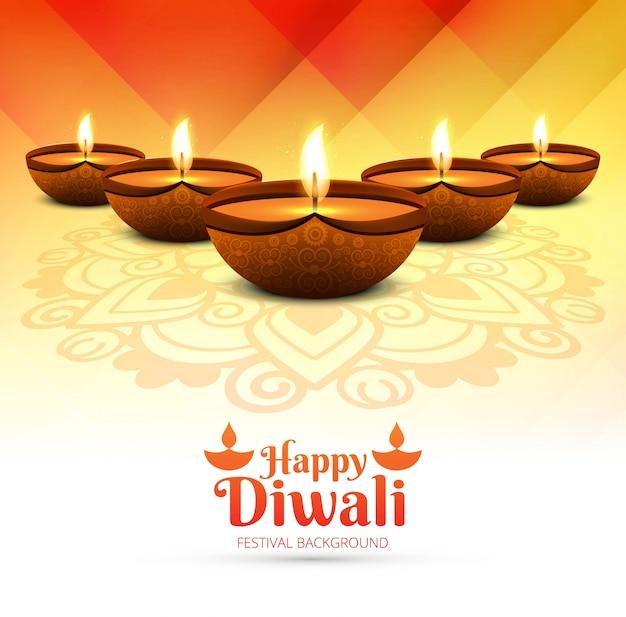 Modern Orange Diwali Design