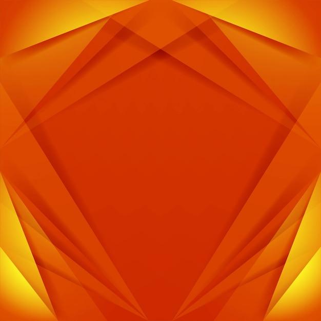 Modern orange geometric background