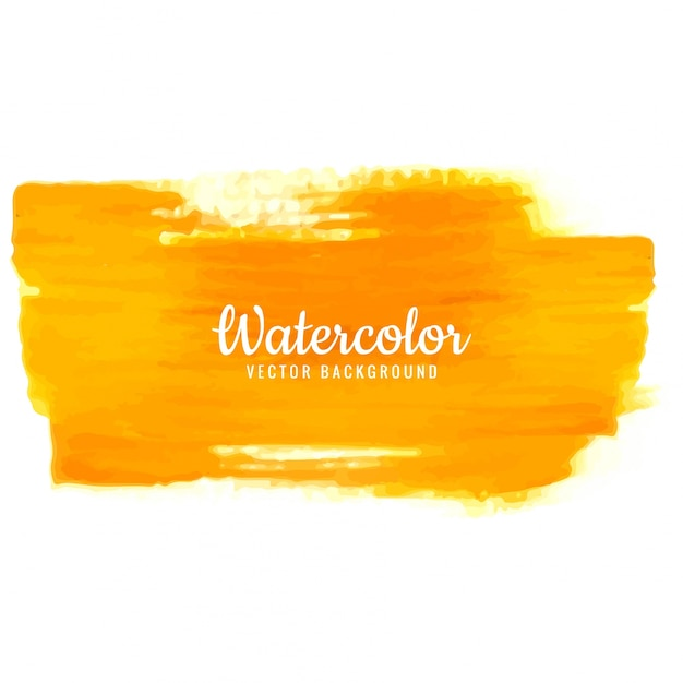 Modern orange watercolor stroke background Free Vector
