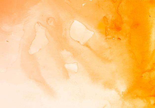 モダンなオレンジ色の水彩テクスチャ背景 無料ベクター