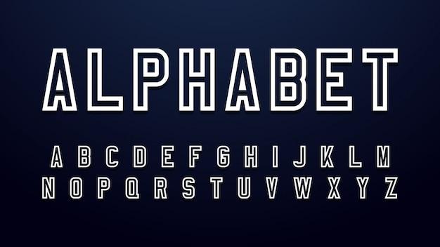 Modern outline font Premium Vector