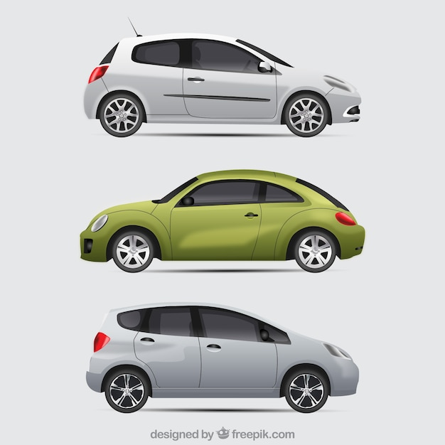 Modern pack of compact cars
