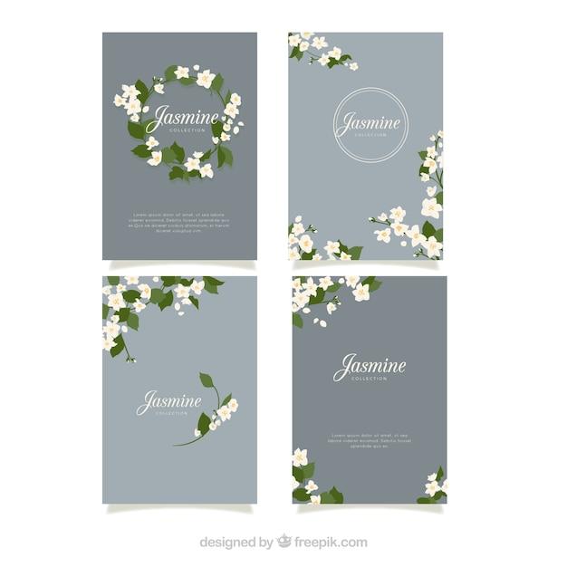 Modern pack of elegnat jasmine cards