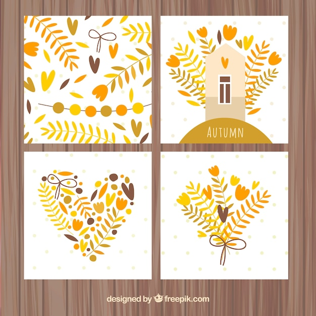 Modern pack of lovely autumn cards