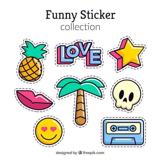 Modern pack of lovely stickers