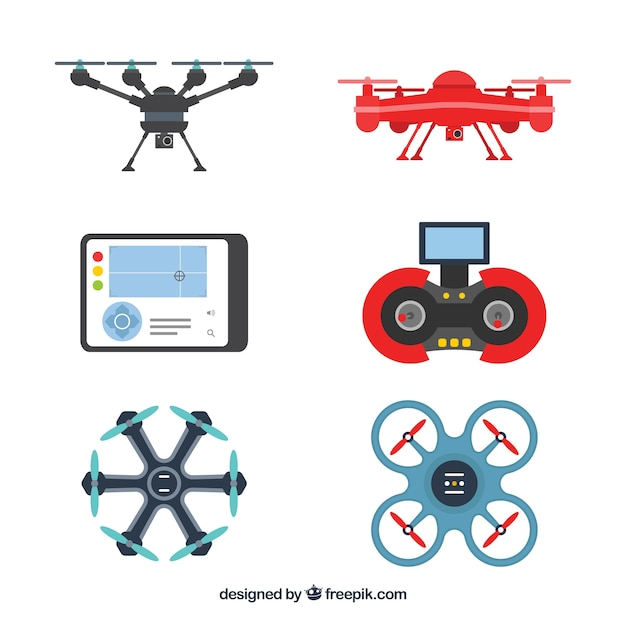 Modern pack of new drones