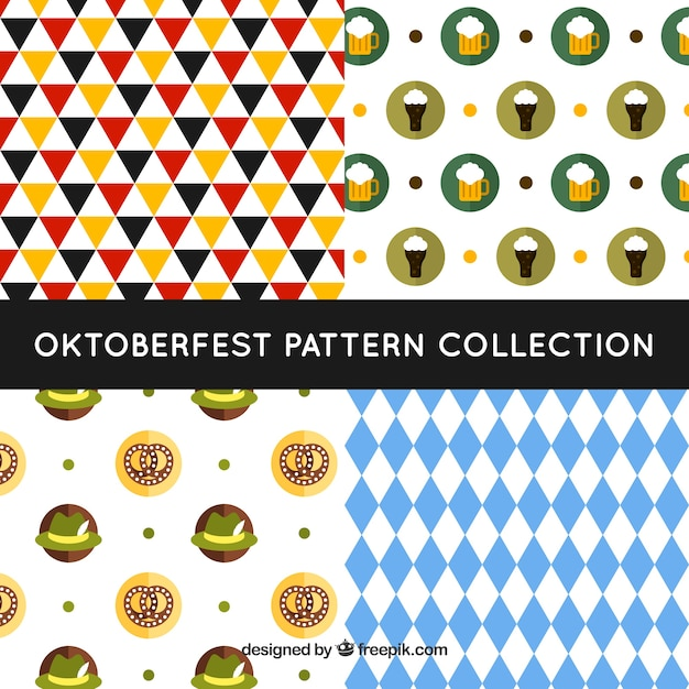 Modern pack of oktoberfest patterns