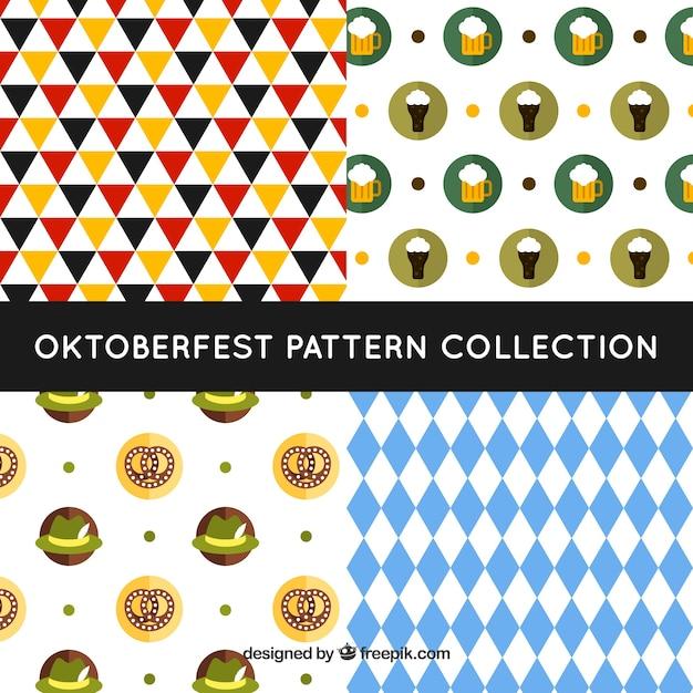Modern pack of oktoberfest patterns