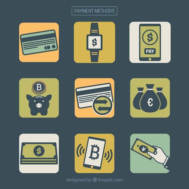 Modern pack of payment methods