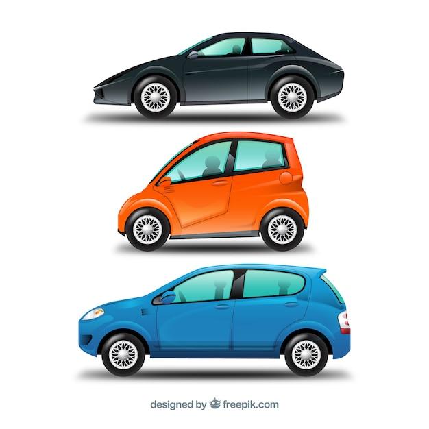 Modern pack of urban cars