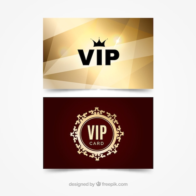 Modern pack of vip cards