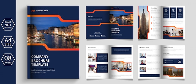 Modern pages business brochure design Premium Vector