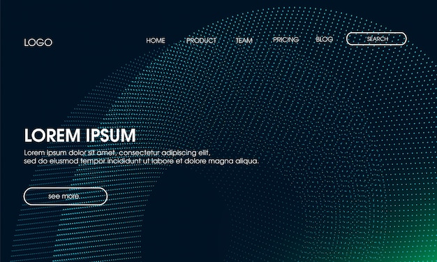 Modern particle langing page background Premium Vector