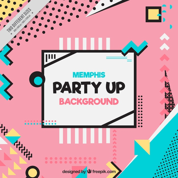 Modern party background with geometric shapes Free Vector