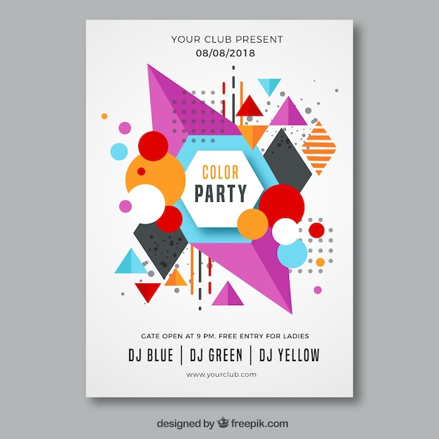 Modern Poster modern poster with geometric shapes vector free
