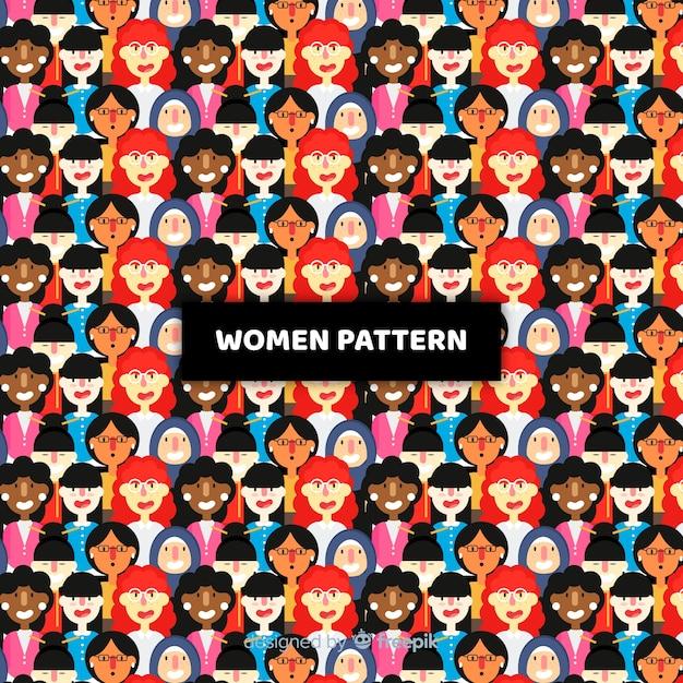 Modern pattern of international group of women Free Vector