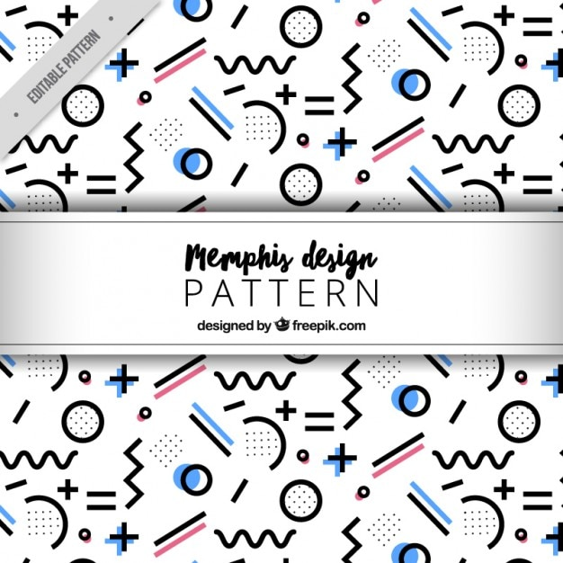 Modern pattern with abstract figures Premium Vector
