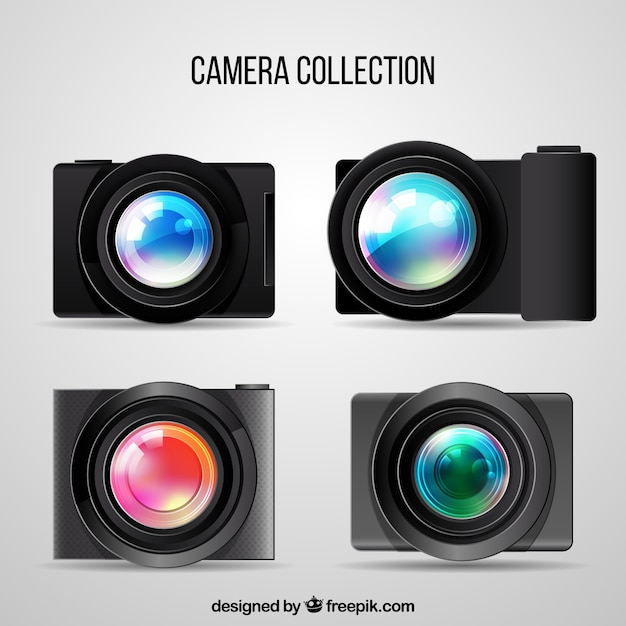 Modern photo cameras collection