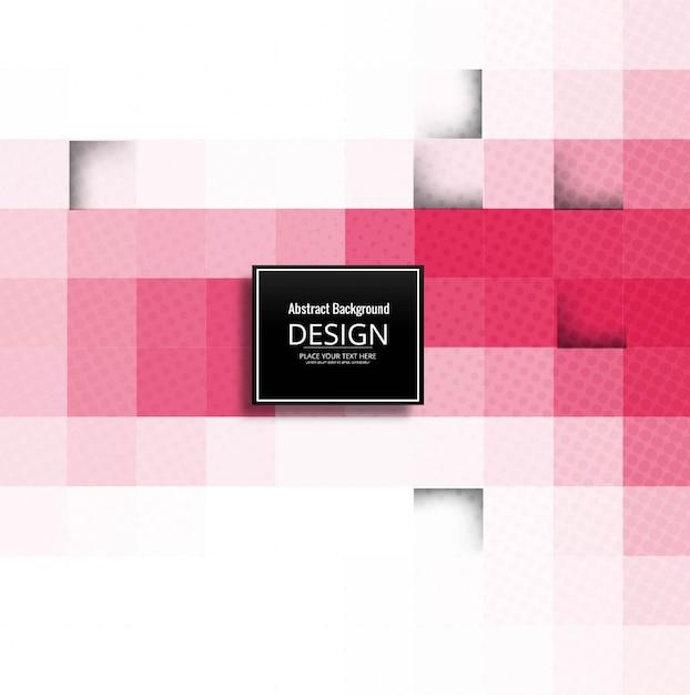 Modern pink geometric background