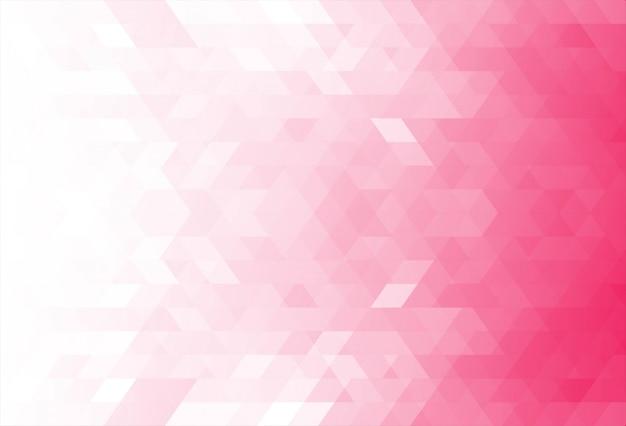 Современные розовые геометрические фигуры фон Бесплатные векторы