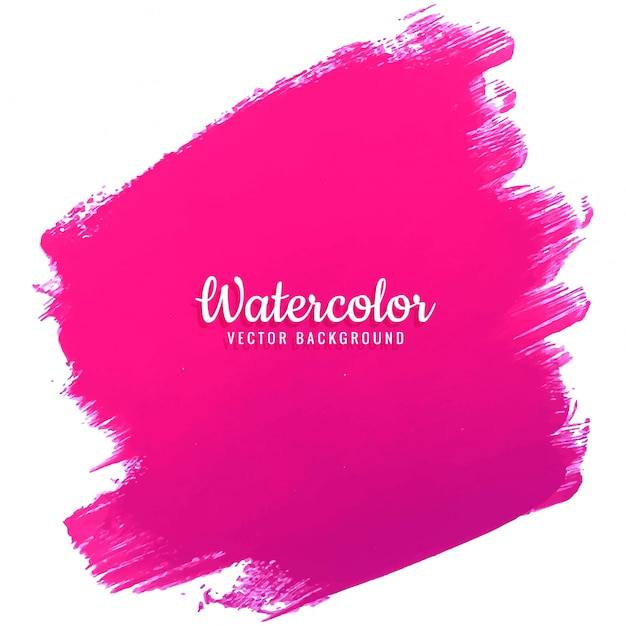 modern pink watercolor background Free Vector