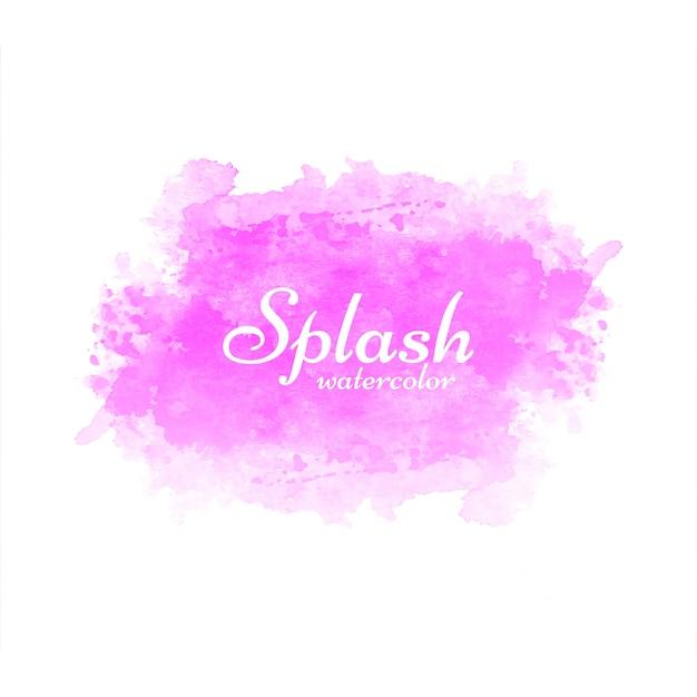 Modern pink watercolor splash background Free Vector