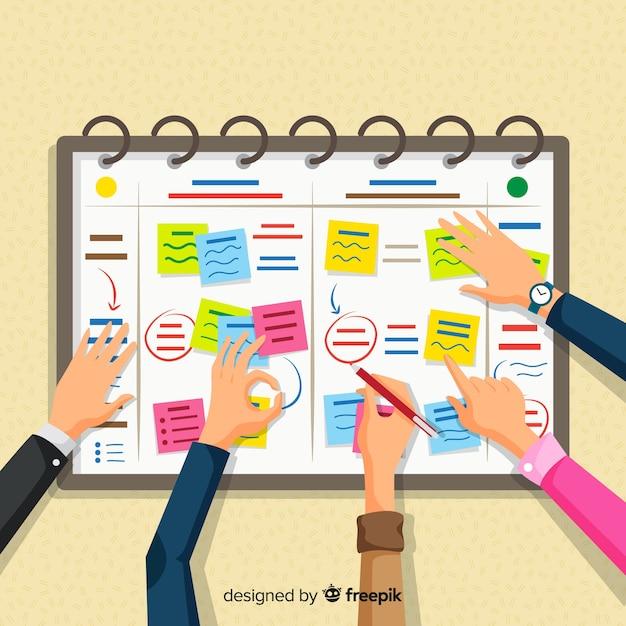 Modern planning schedule concept Free Vector