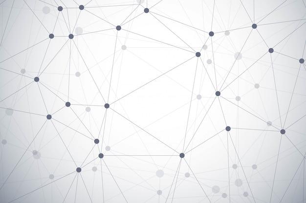 Modern polygon technology background Free Vector