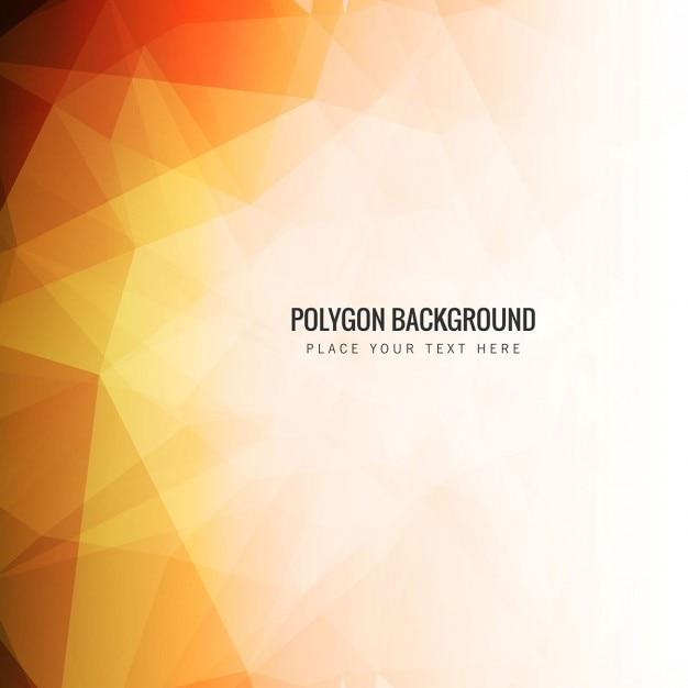 Modern polygonal background in orange tones Free Vector