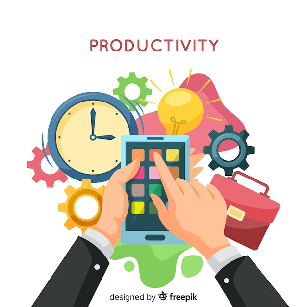 Modern productivity concept with flat design Free Vector