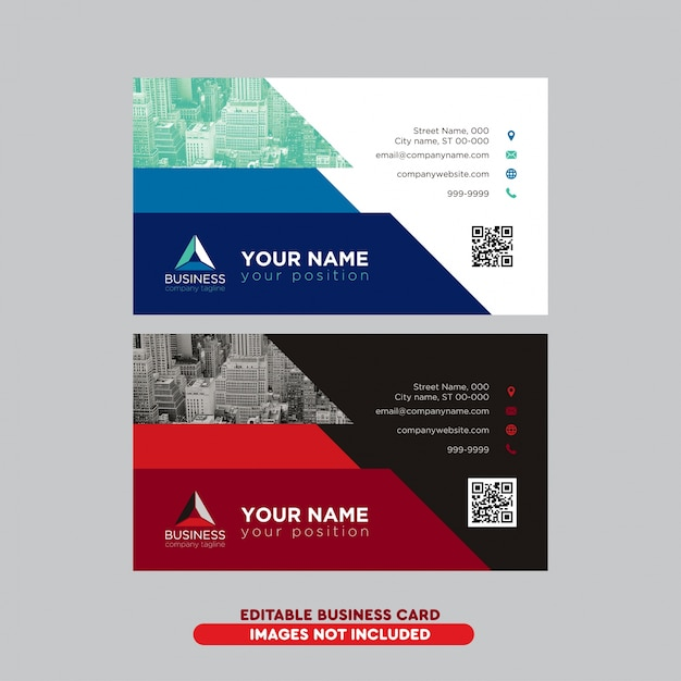 carte de visite pro Modern professional business card pack | Free Vector