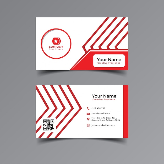 Modern professional business card template design simple red and modern professional business card template design simple red and white colour premium vector reheart Gallery