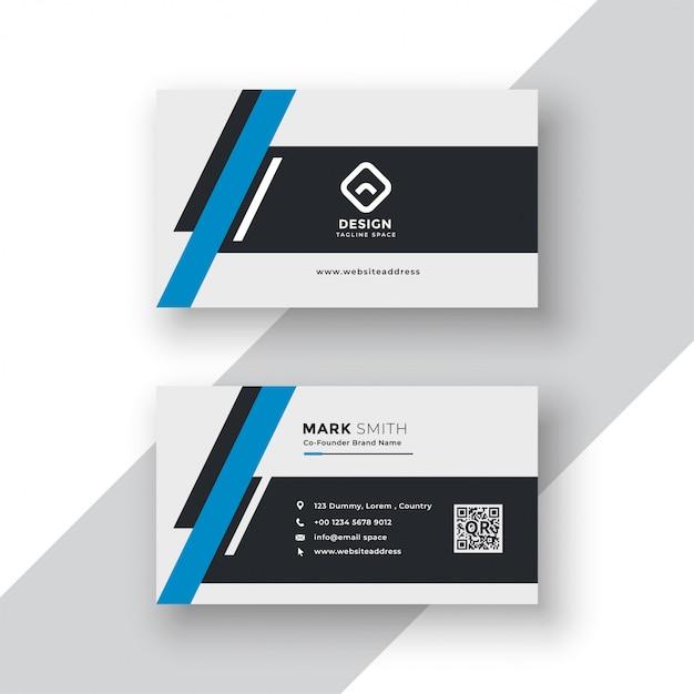 Modern professional business card template design Free Vector