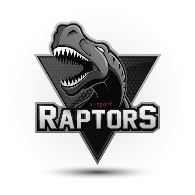 Современный профессиональный логотип динозавра для спортивной команды Premium векторы
