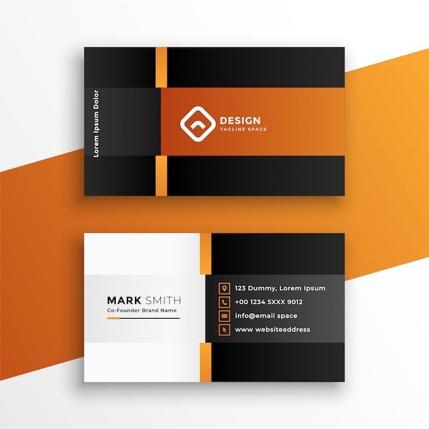 Modern professional geometric business card template Free Vector