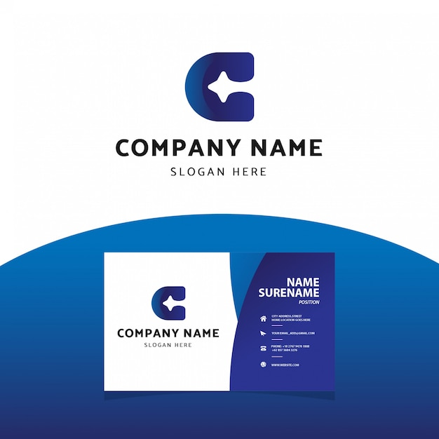 Modern professional letter b logo  business card template Premium Vector