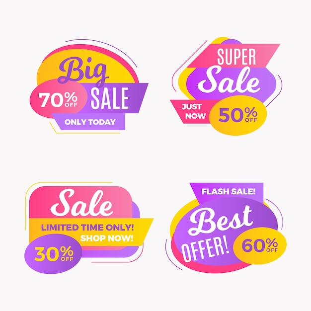 Modern promotion sales banner Free Vector