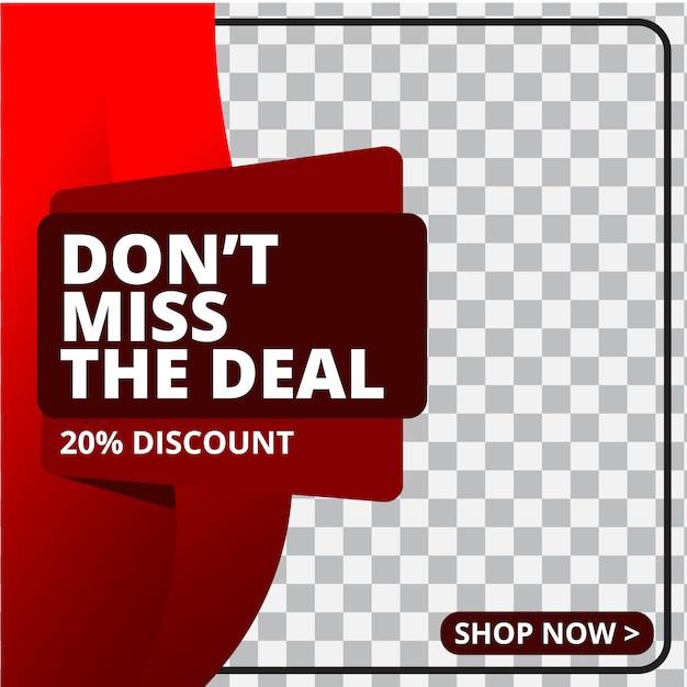 Modern promotion square web banner for social media Premium Vector