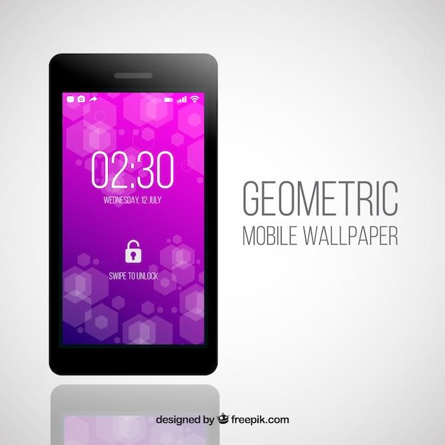 Modern purple mobile phone wallpaper