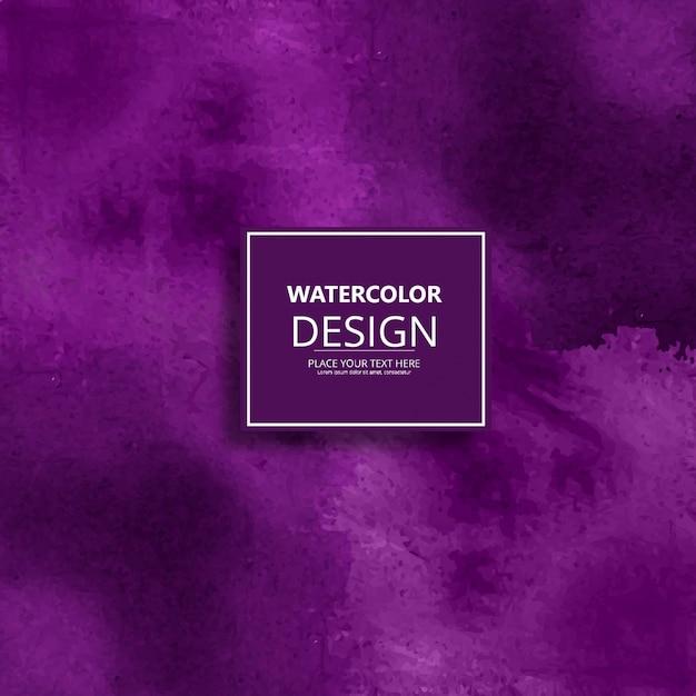 Modern purple watercolor design Free Vector